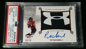 11 RED SPECTRUM RC AUTO PSA 9 PATRICK MAHOMES II 2017 UNDER ARMOUR ROOKIE 1010