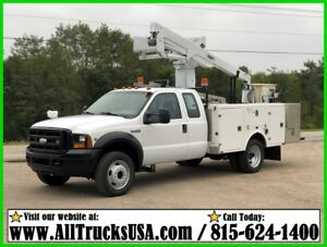 2006 Ford F450 6.8 V10 GAS Extended cab 42' VERSALIFT BUCKET BOOM SERVICE TRUCK