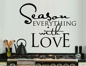Season Everything With Love Vinyl Wall Decal Sticker Home Decor