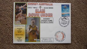 SYDNEY OLYMPIC SERIES TEST EVENT COVER 2000 SLAM DOWN UNDER BASKETBALL EVENT AU $6.00