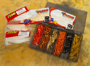 170 Soft Plastic Lures - Worms Grubs Minnows - Yum Zoom - Bass Pro Shops Case