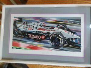 MICHAEL ANDRETTI Limited Edition Serigraph by Randy Owens SIGNED BY BOTH $225.00