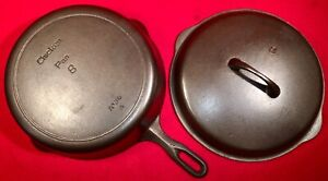 Griswold Iron Mountain Cast Iron # 8 ** DEEP ** Skillet & Cover