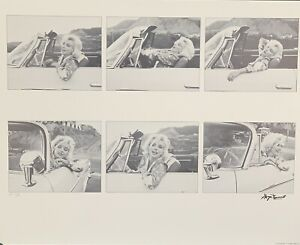 Marilyn Monroe lithograph signed and numbered George Barris