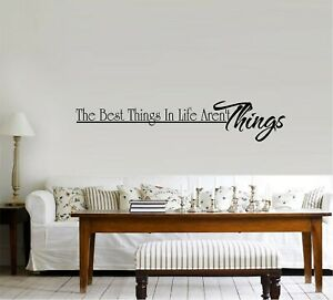 The Best Things in Life Vinyl Wall Decal Sticker Home Decor Family Kids Room