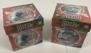 Two Ravensburger Christmas Ornament 3D Puzzle Balls NEW SEALED Deer
