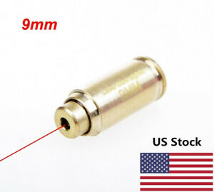 USA Stock 9mm Brass CAL Red Laser Bore Sight Cartridge Bullet Shape Boresighter