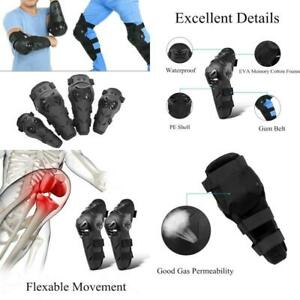 Qiilu 4 pcs Motorcycle Motocross Cycling Elbow and Knee Pads Protection Shin Gua