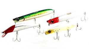 fishing lures IMA mixed lures  tackle house  egreen poppers x 4  as pictured