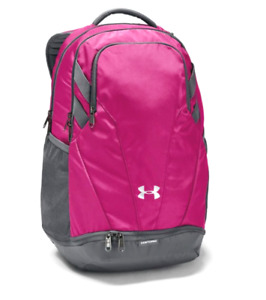 Under Armour Team Hustle 3.0 Backpack Bag 1306060 Tropic Pink Graphite 30L Nwt