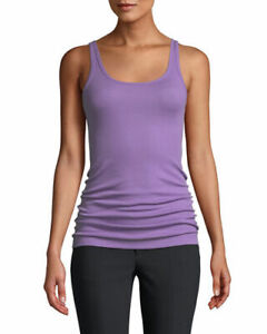 E001 NWT VINCE RIBBED FAVORITE WOMEN TANK TOP SIZE XS, S, M in LILAC $48