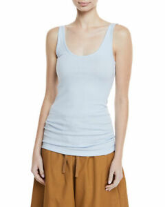 E003 NWT VINCE RIBBED FAVORITE WOMEN TANK TOP SIZE XS, S, M in POWDER BLUE $65