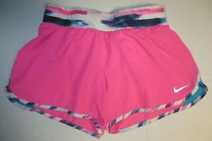 Girls Nike Dri-Fit Tempo Rival GFX Shorts Youth Large Pink 641661 Running Gym