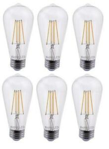 Bioluz LED 60W ST64 LED Bulb, Dimmable Vintage Edison Antique Filament LED