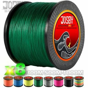 JOSBY 300M 500M 1000M  8 Strands Super New PE Braided Fishing Line Wire Strong