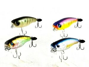 fishing lure DEPS Buzz Jet JR Floating Lure top water diving 72mm  14g x 4 lure