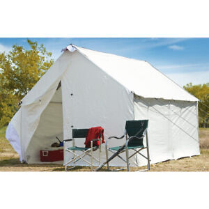 Canvas Wall Tent 10 x 12 Stove Opening Fire Retardant Mildew Weather Resistant