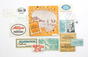 Collection of Ephemera Laid Into a Kay's Candies Box