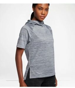 Nike Therma Women's Short-Sleeve Running Hoodie Top - Size: Small