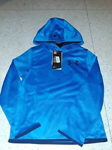 NWT UNDER ARMOUR BOYS BLUE CAMO camouflage PULLOVER HOODIE HOODY $26.99