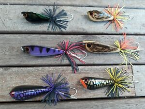 DEADLY LURES  LUCKY FROG  60  80mm JUMP FROG  BASS LURE PACK