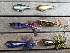 DEADLY LURES LUCKY FROG HARDWOOD LURES  BASS LURE PACK
