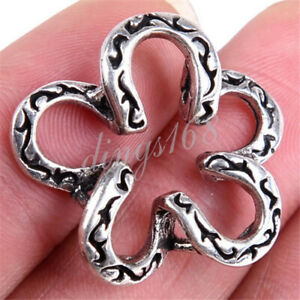 Fashion Flower Shaped Carved Tibetan 925 Sterling Silver Charms Pendant M1387