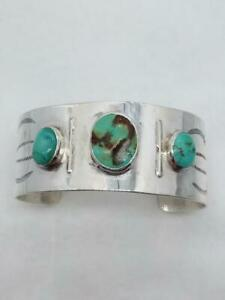 925 Silver Turquoise Gemstone Wide Adjustable Cuff Bracelet (AP1057572)