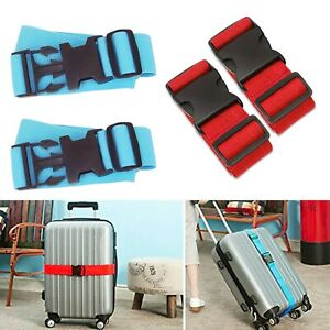 2x Adjustable Suitcase Luggage Strap Belt Travel Accessory $12.99