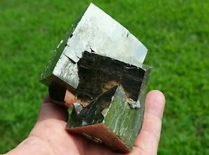 EXCEPTIONALVERY RARELARGE BRIGHT GOLDEN PYRITE CRYSTAL CLUSTERITALY
