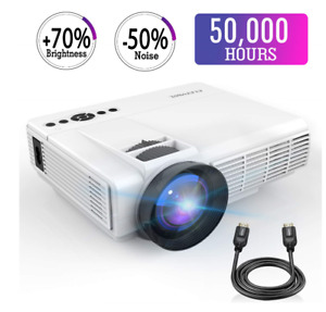 Mini Projector2018 Upgraded LED Video Projector +50% Brighter+20% lumens