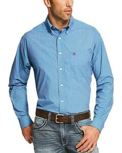 Ariat Men's Blue Potter Print Western Shirt  - 10020686