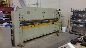 Roto Die Turn & Bend Brake Press 10'X16GA 3Dies Box&Pan90degHemming good cond