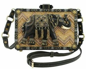 MARY FRANCES  ELEPHANT TEMPLE DESIGNER CROSSBODY BAG *NEW* HANDBAG CUTE RARE US