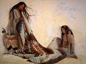Penni Anne Cross QUILT MAKERS - CANVAS SN Native American Art
