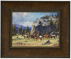 WARRIOR'S QUEST  Martin Grelle CANVAS Framed SN LE wcoa Native American Indian