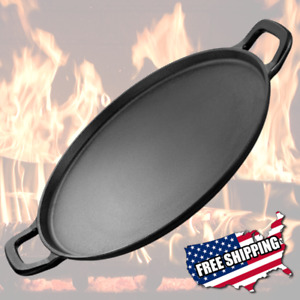Large Lodge Cast Iron Pizza Pan Griddle Vintage Look Round Seasoned 14 Inch