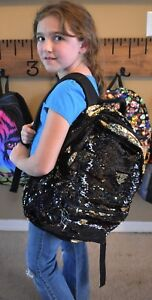 Youth Black & Gold Sequin Book Bag w Level IIIA Bullet Proof Insert