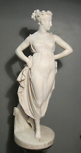 huge antique 18th century hand carved female figural Italian marble sculpture $17029.99