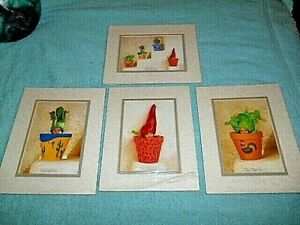 1998 ANNE GEDDES PORTAL 8X10 BABY MATTE FRAMED LITHOS - 3 SEALED 1 USED