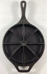 LODGE 8CB Cornbread Cast Iron Skillet Wedge Cookware Pan USA
