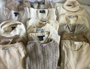 LOT OF 30 100% CASHMERE SWEATERS FOR CUTTER CRAFT REPURPOSE RECYCLE