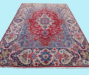 HOME DESIGN FLORAL PERSIAN CARPET RUG RECTANGLE BLUE WOOL 40+ AREA RUGS 10X16ft.