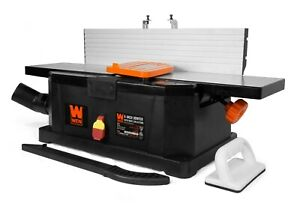 WEN 6559 6 Inch 10 Amp Corded Benchtop Jointer with Filter Bag and Depth Scale