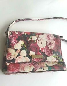 Kate Spade of New York In Full Bloom Cross Body Sally Grant Street Purse Roses
