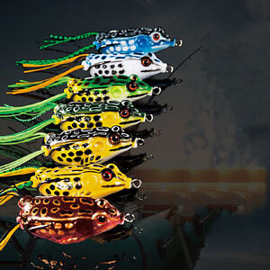 Fishing Lures Large Frog Topwater Crankbait Hooks Bass Bait Tackle
