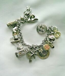925 Sterling Silver Charm Bracelet: New York World's Fair & Montreal Expo Charms
