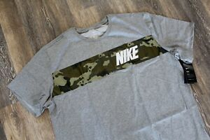 NWT NIKE MENS DRI-FIT Big Tall CAMOUFLAGE Athletic T-Shirt GRAY