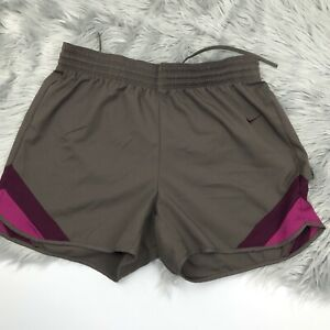 "Nike Womens 5"" Running Shorts Brown Size M"