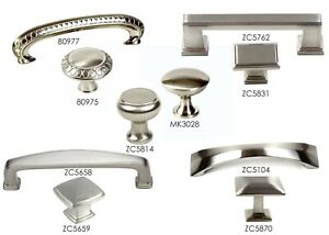 Knob Pull Handle Kitchen/Bath Cabinet Hardware in Brushed Nickel Collection